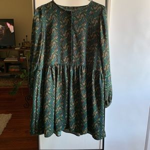 Zara paisley mini dress!